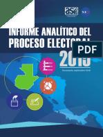 Informe Analítico Del Proceso Electoral 2,015, ASIES