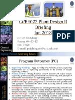 Cdb4022 Pdp II Briefing (Jan 2018)