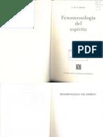 Introducción_Fenomenología Del Estpíritu