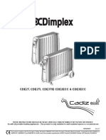 Dimplex Cadiz Dry Radiator UK