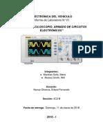 Electrónica Del Vehículo - Informe N° 01