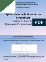SEMINARIO APLICACION SCHRONDIGER-BARRERA DE POTENCIAL-PENETRACION BARRERA.pptx
