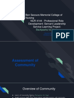 professional role development service-learning project