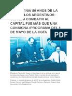 ARGENTINA-50 Años de La CGT de Los Argentinos-Programa 1 de Mayo