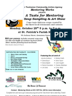 2010 Taste for Mentoring Soup Sampling and Art Show