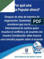 Algunas Informaciones Consulta Popular 2018, TSE Guatemala