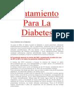 Tratamiento Para La Diabetes