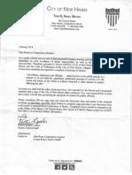 City Ethics Disclosure Letter & Questionnaire 2018