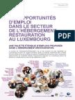 Les Opportunités d'Emploi Dans Le Secteur de l'Hébergement-restauration Au Luxembourg