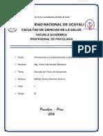 Escuela de Toma de Decisiones - Unu Psicologia 2016