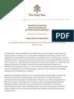 Papa Francesco Costituzione AP 20150126 Casheliensis Et Emeliensis
