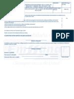 Certificación de Entrega de Carta Deberes y Derechos y Carta de Desempeño