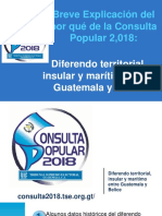 Presentación Consulta Popular 2018 - Diferendo Guatemala-Belice, TSE Guatemala