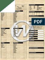 ZCorps - Ayudas - Ficha de Personaje Alternativa 1