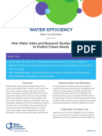 Water Efficiency Water Use Estimates FactSheet