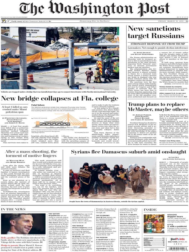 The Washington Post March 16 2018 | American Civil Liberties Union