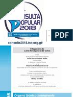 Fundamentos y Roles en las Juntas Receptoras de Votos (JRV), Consulta Popular 2018 TSE Guatemala