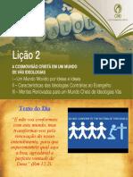 EBD - A Cosmovisão Cristã Em Um Mundo de Vãs Ideologias