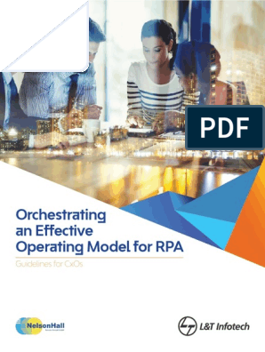 Orchestrating an Effective Operating Model for RPA