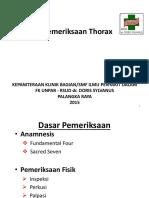 Dr Mual Bobby SpP - PEMERIKSAAN THORAX Lea Presentasi at UNPAR