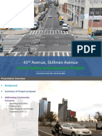 Updated DOT plan for 43rd and Skillman Avenue