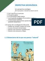 T1. Perspectiva sociologica Campo Socgía. Educación