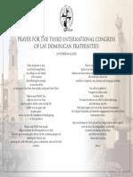 Prayer for the 2018 Intl Congress