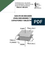 Disc. Nº 5. Capacitores y Dieléctricos
