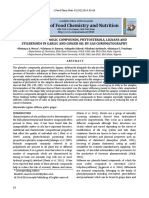 Analysis of Phenolic Compounds, Phytosterols, Lignans And