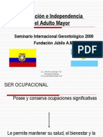 adaptaciones e independencia del adultomayor