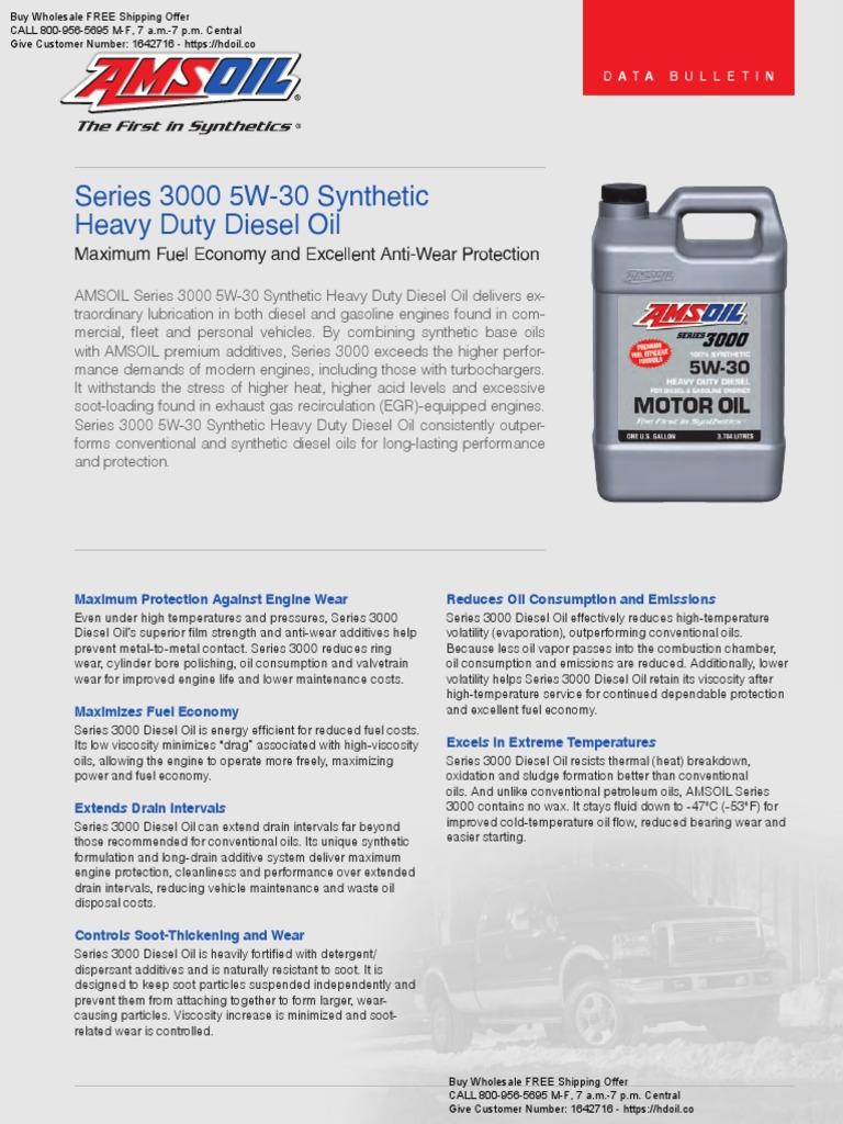 AMSOIL Series 3000 5W30 Synthetic Heavy Duty Diesel & Marine