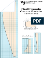 Canoe Paddle Template