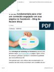 4 Dicas Fundamentais Para Criar Um Conteúdo Engajador Em Sua Página No Facebook – Blog Da Nuvem Shop