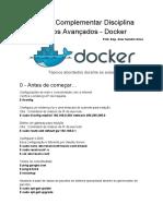 Docker - Receita de Bolo