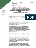 Qué Es La Auditoria Forense. La Auditoria Forense en La Lucha Contra El Fraude - Por María Evangelina Fontán Tapia