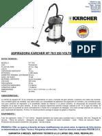 Aspiradora Karcher Nt 70-2 220 v.p-a