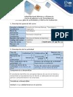 Guía de Actividades y Rúbrica de Evaluación - Ciclo de Tarea 1 - Conocer La Calidad Total en El Servicio
