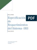 Especificacion de Requisitos Del Sistema