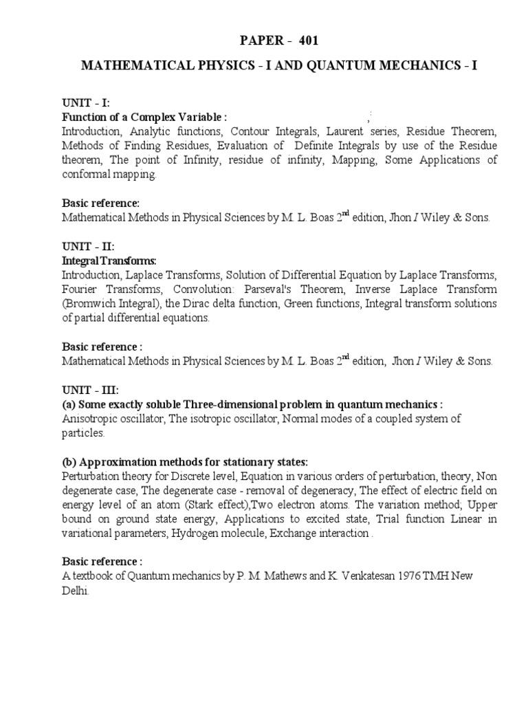 PAPER401 pdf | Perturbation Theory (Quantum Mechanics