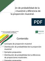 Apuntes de Distribucion Muestral de La Proporcion