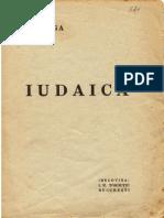 Nicolae Iorga - Iudaica - 1940