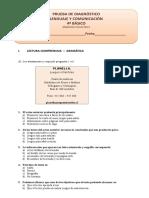 Prueba de Adiagnostico 4 Basico