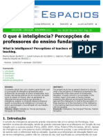 inteligência revista espacios