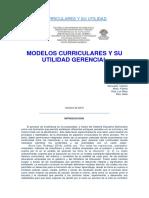Modelos Curriculares y Su Utilidad Gerencial