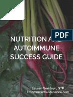 Nutrition Autoimmune Guide