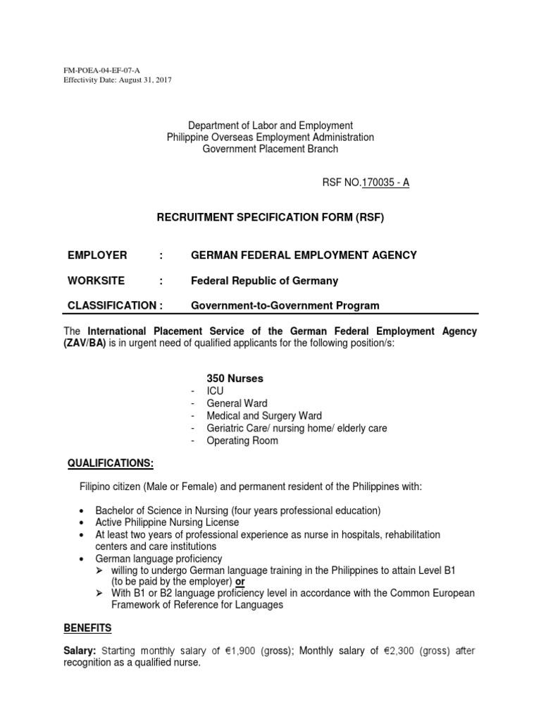 170035 Germany   Nursing   Résumé