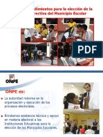 Taller Organizacion y Eleccion de Municipioes Escolares2015