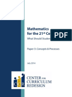 CCR Maths Concepts Processes