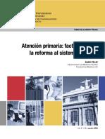 Atencion Primaria Factor Clave en La Reforma Al Sistema de Salud