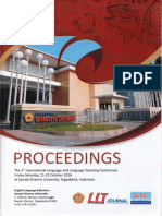 Proceedings  The 3rd International Language and Language Teaching Conference - LLTC 2016